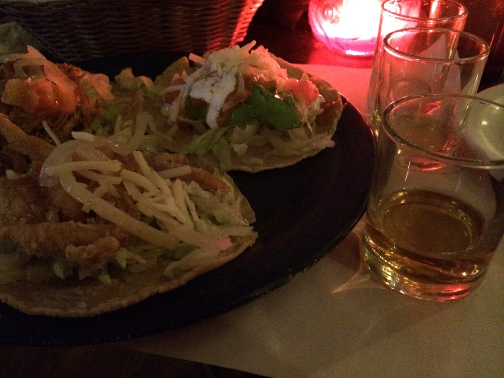 whiskey and tacos
